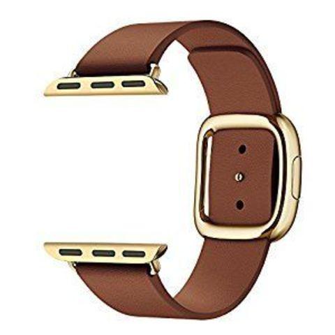 Ремешок Apple watch 38mm Modern Buckle Leather gold /brown/