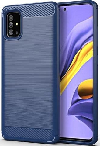Чехол Samsung Galaxy A51 (M40S) цвет Blue (синий), серия Carbon, Caseport