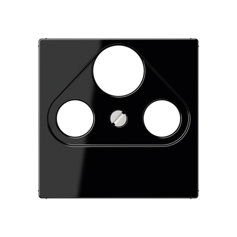 Розетка TV SAT FM универсальная, оконечная, диапазон частот от 4 до 2400 MГц. Цвет Чёрный. JUNG A. S4100+A561PLSATSW