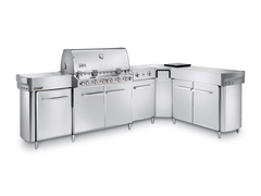 Гриль газовый Weber Summit Grill Center, нерж.сталь