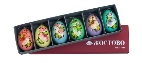 Zhostovo Easter eggs - set of 6 eggs SET04D-667785776