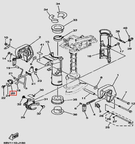 Фиксатор для лодочного мотора F5 Sea-PRO(16-20)