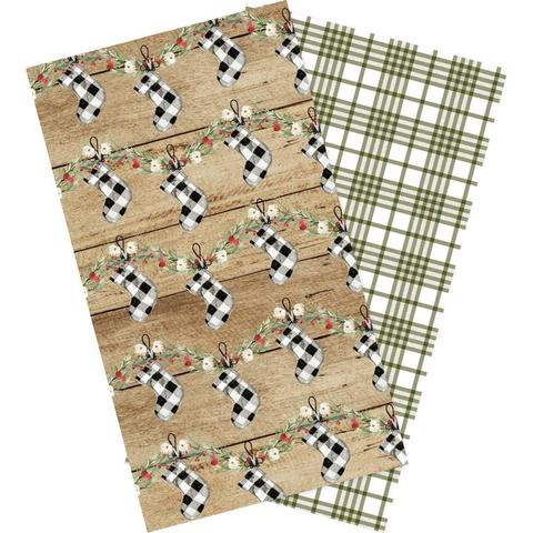 Набор внутренних блоков для тревелбука  - 11х21 см-Echo Park Traveler's Notebook - Christmas Lined- 2 шт