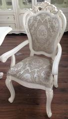 Кресло мягкое Глория (MK-2725-WG) Молочный с золотом