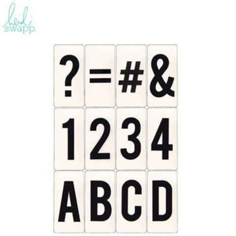 Сменный алфавит для лайтбокса Heidi Swapp Lightbox Inserts- 3,5 х 7,3см.- 100шт.