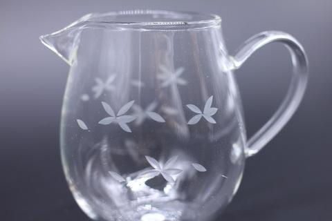 Сливник с цветами, стекло, 500мл