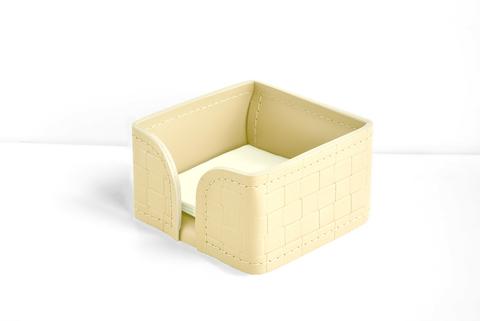 Лоток для блока бумаги из кожи цвет treccia/слоновая кость