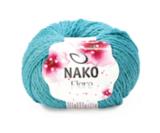 Пряжа Nako Fiore бирюзовый 11241