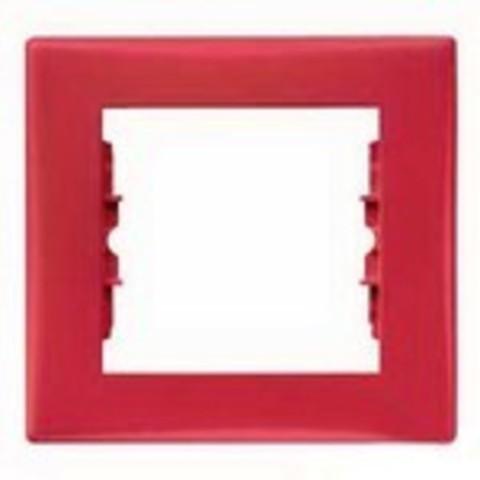 Рамка на 1 пост. Цвет красный. Schneider Electric Sedna. SDN5800141
