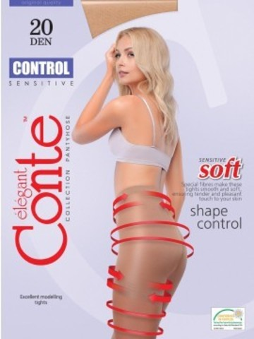 Conte Control Колготки женские 20d, p.2 nero