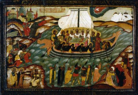 Икона Корабль Веры на дереве на левкасе мастерская Иконный Дом