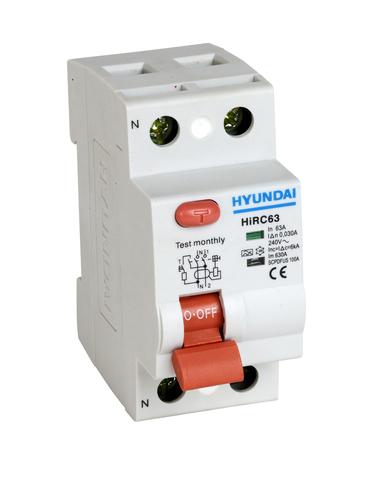 Устройство защитного отключения HIRC63 2PG4S0000C 2 полюса, от 16 до 63A, 30mA
