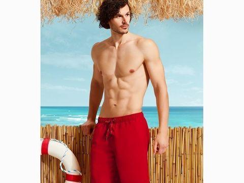 Мужские шорты-плавки красные DOREANSE 3804