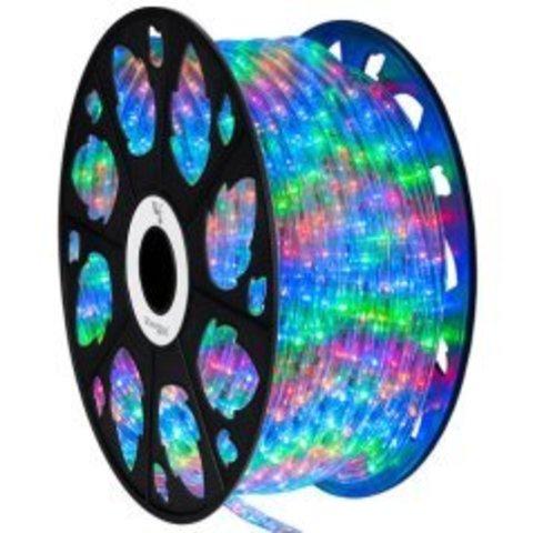 Разноцветный мультик светодиодный дюралайт Delux разных цветов шланг цветной 2wrl яркий