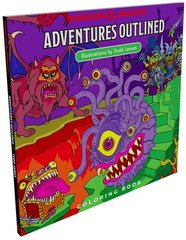 D&D Next: Outlined Coloring Book
