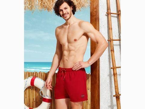 Мужские шорты-плавки красные DOREANSE 3803