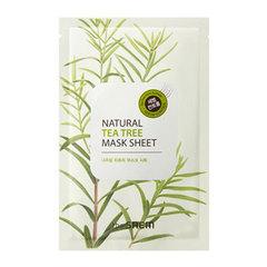 Saem Natural Tea Tree Mask Sheet - Маска тканевая с экстрактом чайного дерева