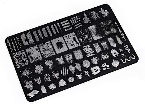 LESLY Пластина для стемпинга Grunge Style