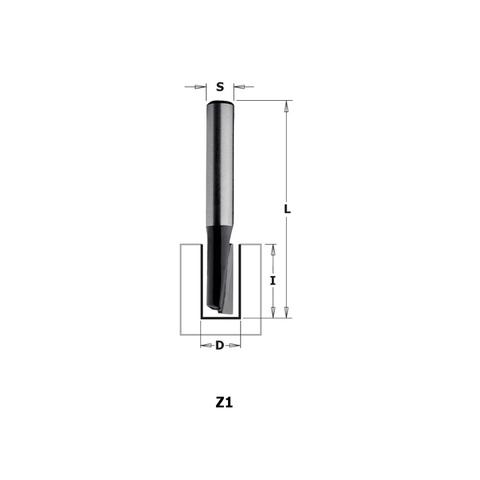 Фреза концевая CMT-contractor пазовая S=8 D=6x16x50,8 Z=1