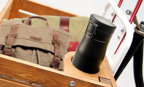 Термокружка Asobu Liberty canteen (0,5 литра), черная/золотистая