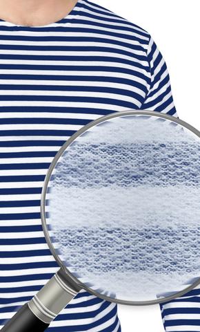 Тельняшка 2-х нитка синяя полоса с начесом