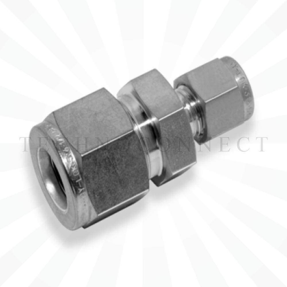 CUR-12M-4  Переходник: метрическая трубка  12 мм - дюймовая трубка  1/4