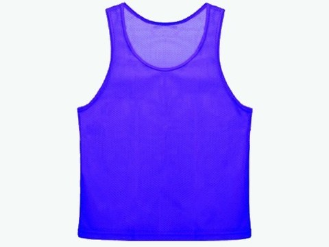 Манишка сетчатая. Цвет: синий. Размер ХL.