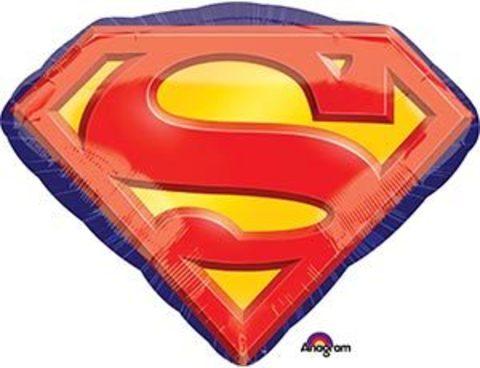 Фольгированный шар Супермен эмблема