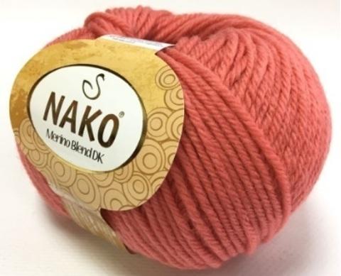 Пряжа Nako Merino Blend DK 10313 коралл
