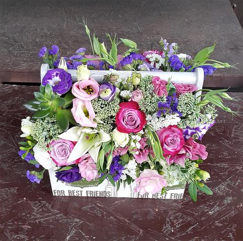 Ящик с цветами Для близких