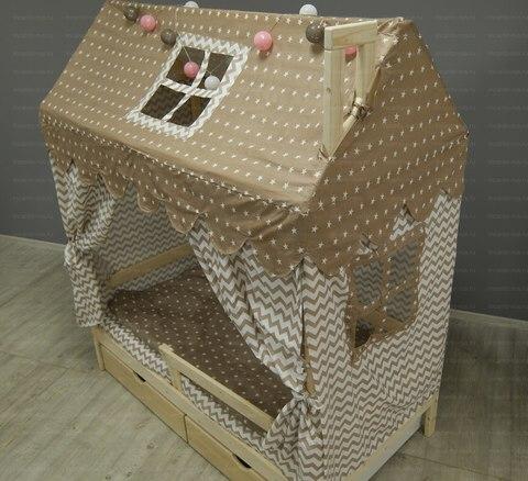 Кроватка-домик Incanto «Лапландия» цвет беленый дуб