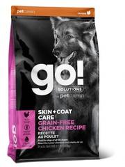 Корм беззерновой для собак всех возрастов, GO! Natural holistic, GO! SKIN + COAT Grain Free Chicken Recipe DF, с цельной курицей