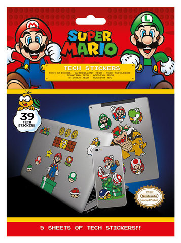 Набор Tech-стикеров Super Mario (Mushroom Kingdom)