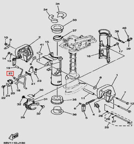 Втулка для лодочного мотора F5 Sea-PRO(16-21)