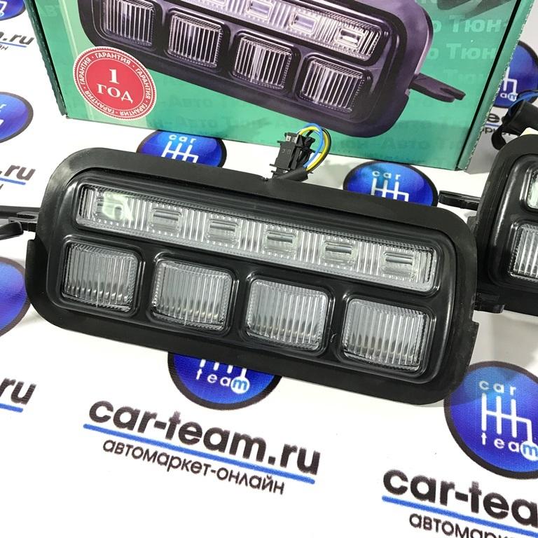 Светодиодные (LED) подфарники (надфарники) с ДХО Тюн-Авто на Лада Нива 4x4, урбан