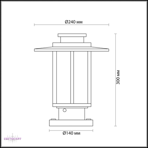 Уличный светильник на столб 4047/1B серии MITO