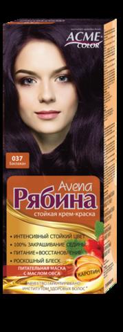 Рябина Avena Крем-краска для волос тон №037 баклажан