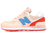 Кроссовки Женские New Balance 574 Light Pink Blue Coral