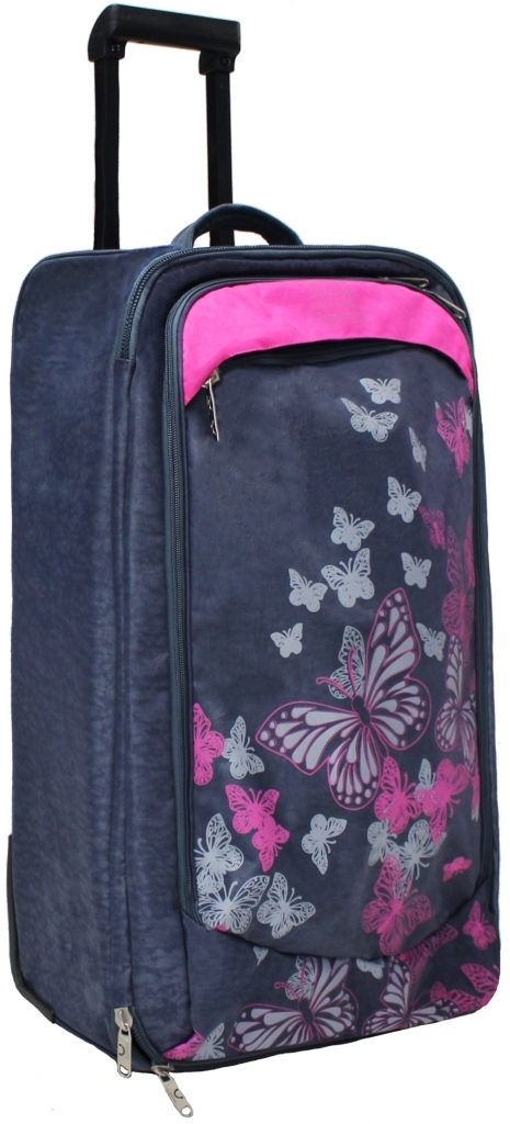 Дорожные чемоданы Сумка дорожная Bagland Рим 62 л. Серый/розовый (0039370) bdf98066565b63288f7c155f921aad7b.JPG