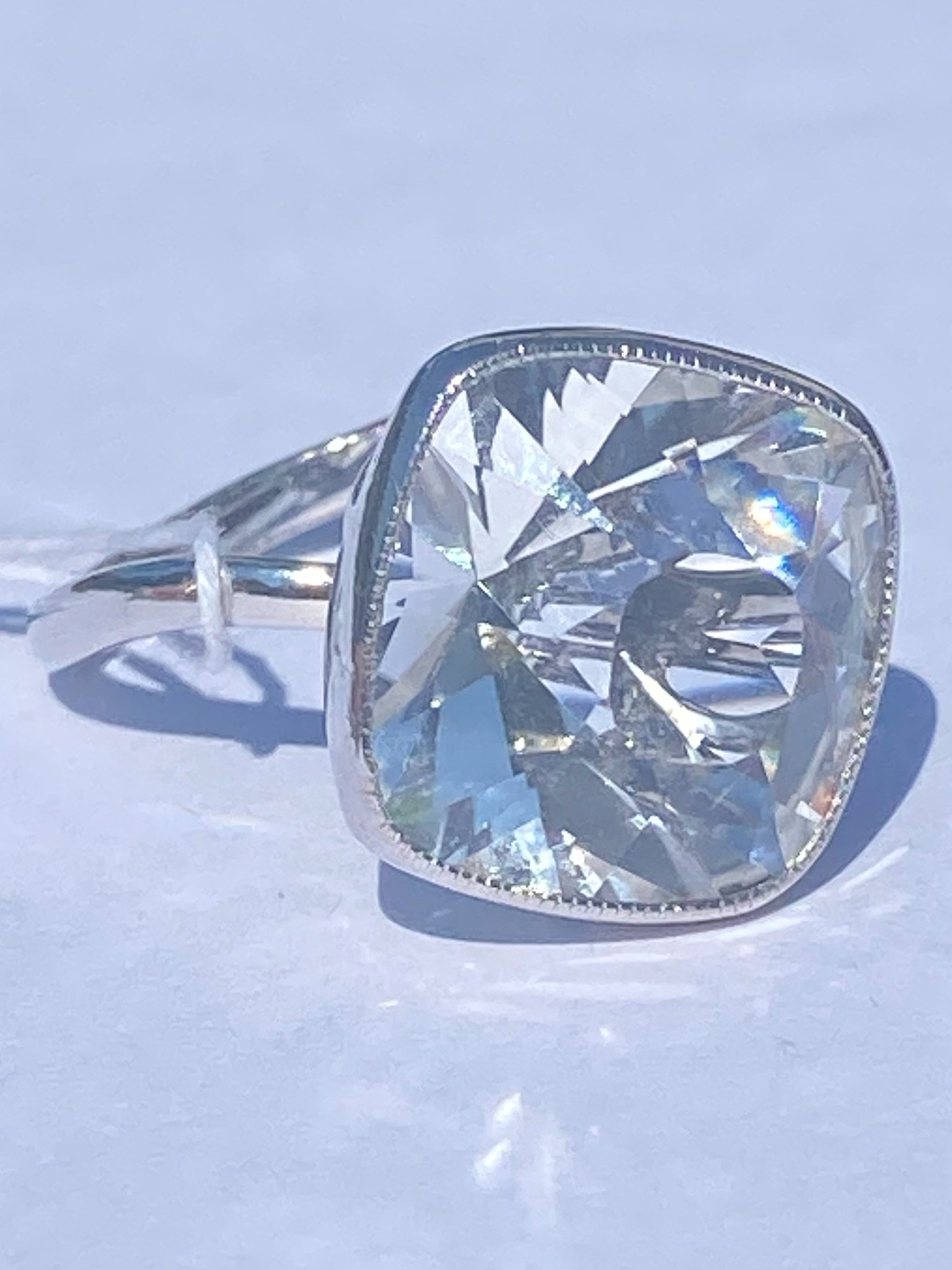 Горный хрусталь 533  (кольцо из серебра)