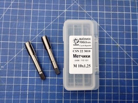 Метчик М10х1,25 (комплект 2шт) ?SN223010 2N(6h) CS(115CrV3) Bucovice(CzTool) 110101