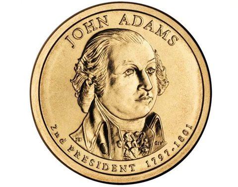 1 доллар 2-й президент США Джон Адамс 2007 год