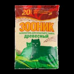 Зооник Наполнитель для туалета кошек древесный