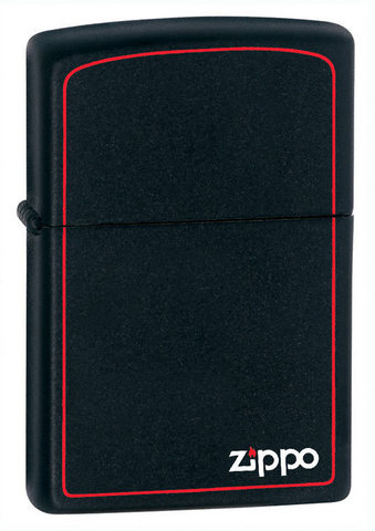 Зажигалка Zippo № 218ZB с покрытием Black Matte, латунь/сталь, чёрная с фирменным логотипом123