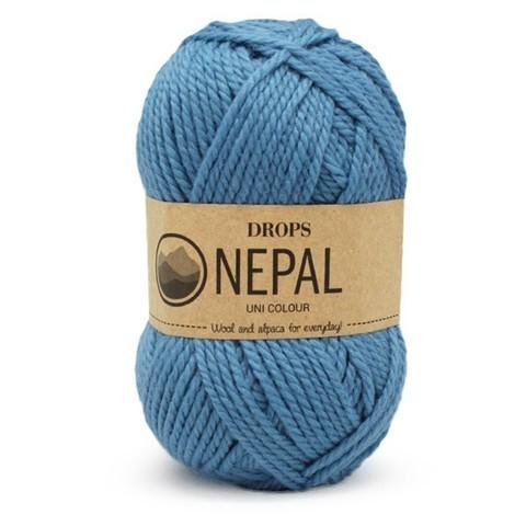 Пряжа Drops Nepal 8783 голубой