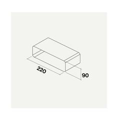 Соединительный элемент прямоугольный Falmec KACL.356 фото