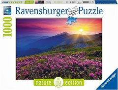 Puzzle -Bergwiese im Morgenrot    1000p