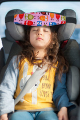 Фиксатор головы ребенка для автокресла Клювонос Розовые совы