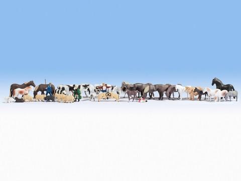 Животные на Ферме - 36 фигурок, (H0)