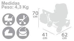DeCuevas Коляска-трансформер для кукол 3в1 с рюкзаком серии